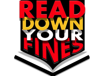 If you are under 18 you can read down your library fines! Every 15 minutes you read inside the library within sight of the desk you will read $1.00 off your library find. Ask at the front desk for details BEFORE you start!